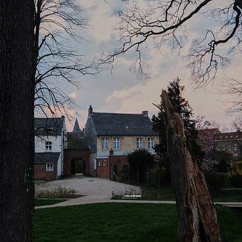 Beguinage, Herentals, Belgium, Building, Tree, Lawn