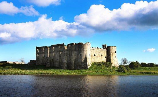 Castle, Wales, Carew, Water, Ruin, Welsh, Uk