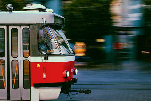 The Tram, Brno Czech Republic, City, Street, Square