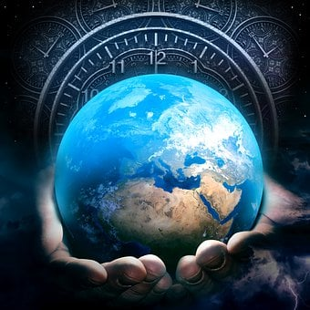 Earth, Hour, Clock, Time, Hands, Hold, Holding, Care
