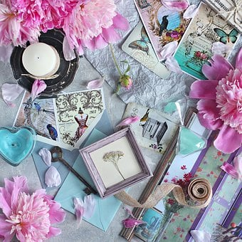 Flat Lay, Flatlay, Flower, Flowers, Peony, Peonies