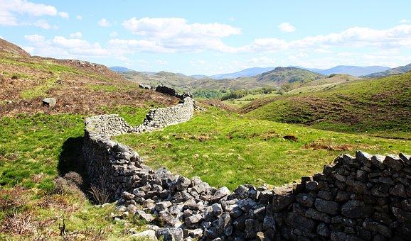 Snowdonia, Hiking, Trekking, Wall, Landscape, Outdoor