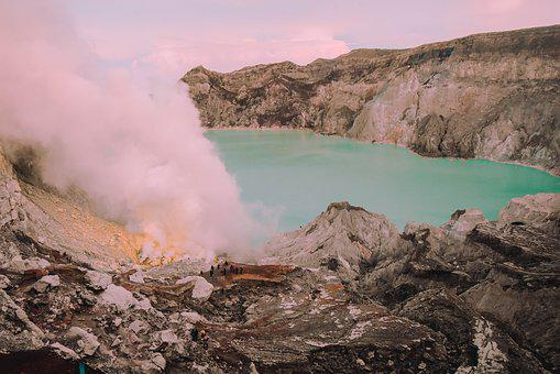 Ijen, Indonesia, Kawah, Mine, Volcano, Java, Crater