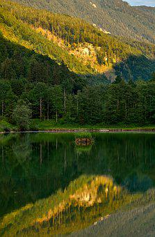 Landscape, Mountains, Forest, Hagersee, Hagertal, Tyrol