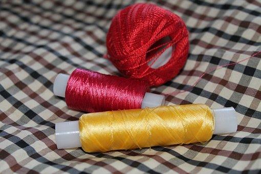 Yarn, Tangle, Sewing, Thread, Multi Color, Needlework