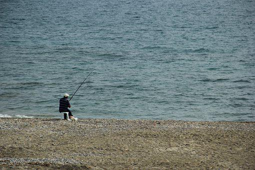 Marine, Fisher, Fishing Rod, Fish, Anglerfish, Ocean