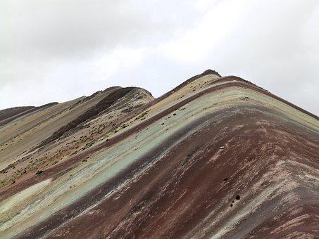 Cordillera De Vilcanota, Rainbow, Mountains, Peru
