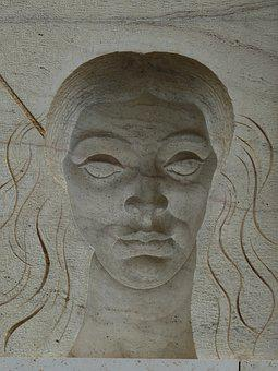 Image, Relief, Spain, Catalonia, Woman, Face
