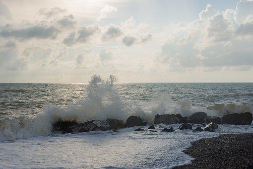 Evening Sea, Sea, Crimea, Warm Wind, Storm, Surf