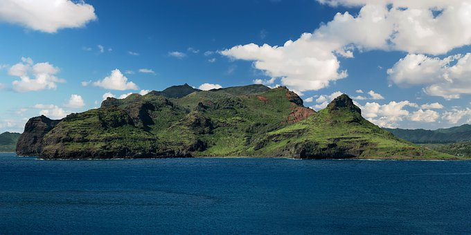Hawaii, Tropical, Coastline, Coast, Seascape, Rock