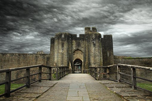 Castle, Wales, Caerphilly, Welsh, Uk, Historical