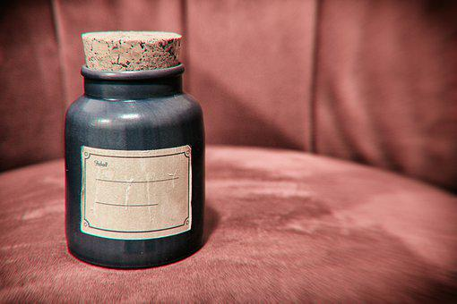 Glass, Vessel, Bottle, Container, Old, Nostalgic