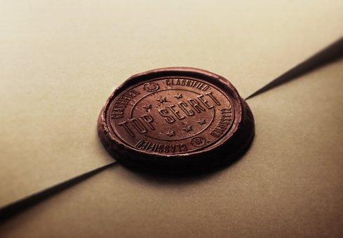 Stamp, Secret, Top, Spy, Agent, Restricted, Vintage