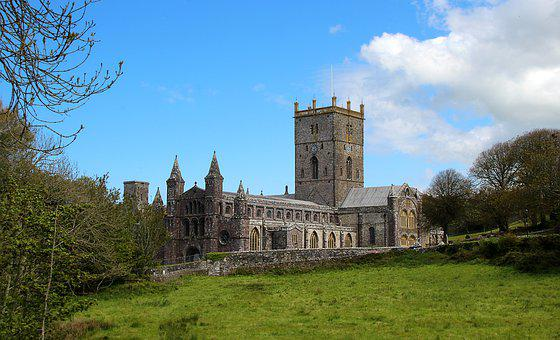 Cathedral, Saint, David, Wales, Uk, Architecture
