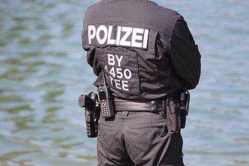 Police, Divers, Boat, Diving, Water, Blue, Underwater