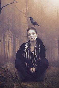 Fantasy, Dark, Gothic, Dream, Lost, Female, Girl, Young