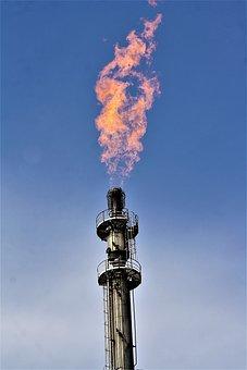 Coke Gas, Coking Plant, Coal Pot, Flame, Beacon