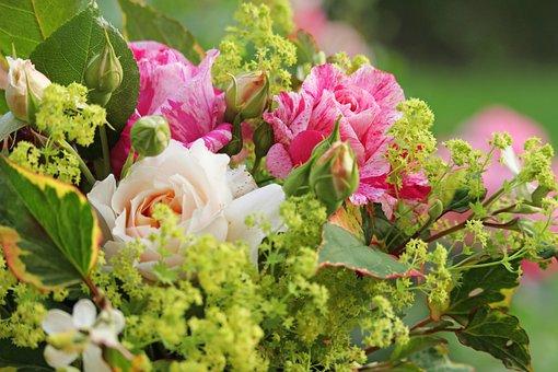 Bouquet, Summer Bouquet, Summer, Flowers, Garden
