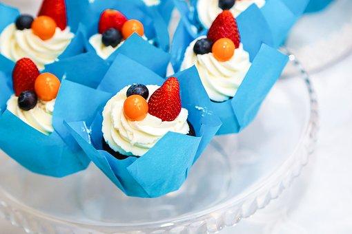 Muffin, Dessert, Cake, Kitchen, Baking, Berry, Home