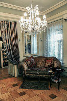 Interior, Sofa, Chandelier, Home, Lounge, Room, Window