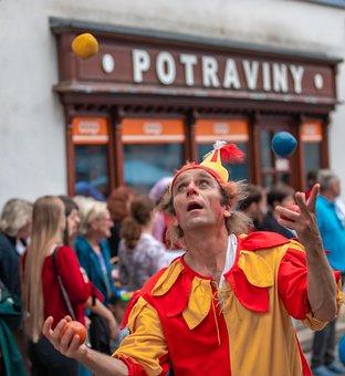Clown, Comedian, Zhangler, The Carnival, People, Kids
