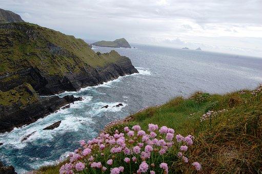 Cliffs Of Kerry, Ireland, Cove, Rocks