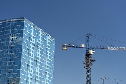 Architecture, Construction, Housing, Crane, Novosibirsk