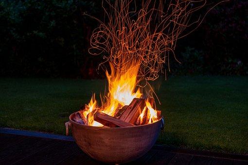 Fire, Midsummer, Solstice, Burn, Blaze, Flame, Dark