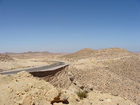 Desert, Sahara, Africa, Desert Road, Road, Landscape