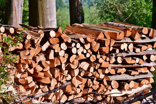 Wood, Cut, Stacked, Stock, Firewood, Nature, Forest