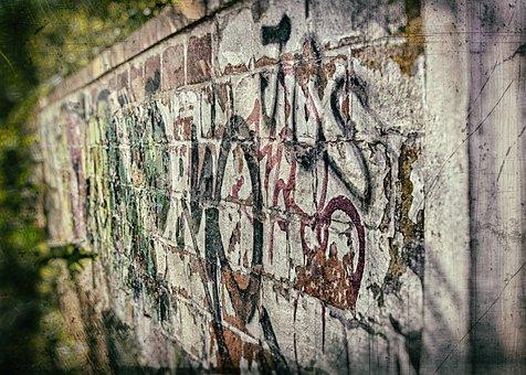 Grafitty, Art, Wet Plate, Photography, Wall, Grafitti
