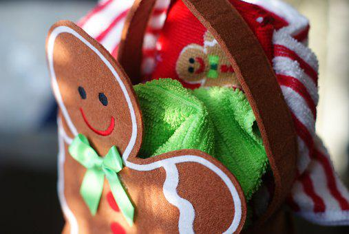 Gingerbread, Happy, Christmas, Holidays, Seasonal