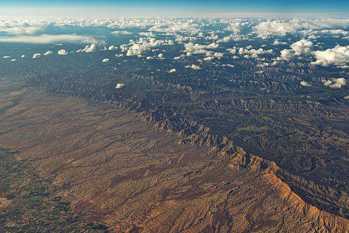 Aerial View, Mountains, Kahl, Desert, Usa