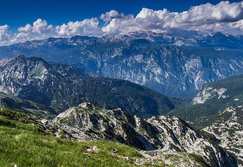 Mountains, View, Landscape, Slovenia, Top, Nature