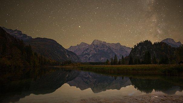 Night Landscape, Night Photo, Mountains, Nature, Scenic