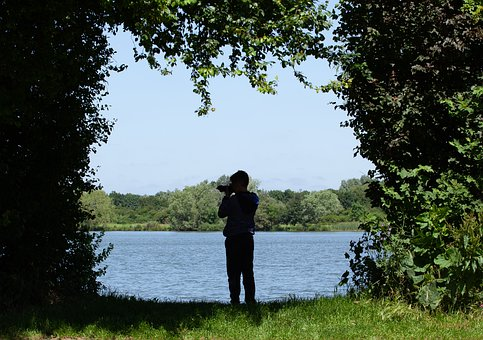 Young Photographer, Child Photographer, Silhouette