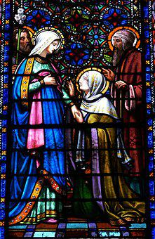 Church Window, Stained Glass, Church, Christianity