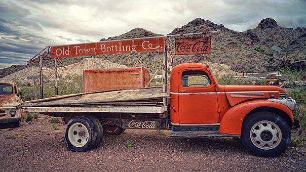 Truck, Beverages, Refrigerator, Signs, Usa, America