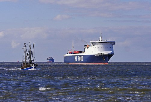 North Sea, Mouth Of The Elbe River, Elbe, Water, Sea