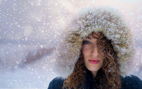 Woman, Snow, Portrait, Winter, Pretty, Light, Magic