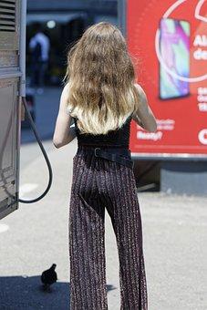 Woman, Young, Girl, Elegant, Pants, Hair, Long, Blonde