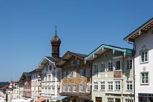 Houses, Facades, Town Hall, Old, Tower, Architecture