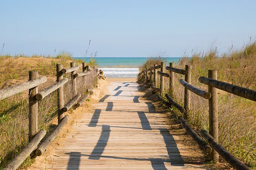 Away, Beach, Sand, Sea, Dune, Coast, Water, Path