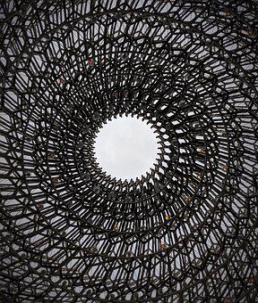 Sculpture, Art, Beehive, Metal, Lights, Framework