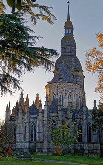 Church, Park, Dawn, Tranquility, Building, Landscape