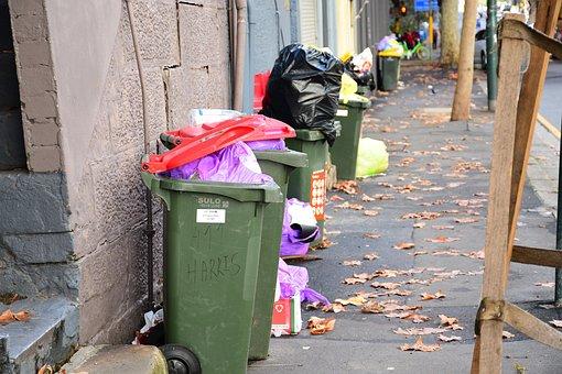 Urban Trash, City Garbage, Sidewalk Garbage