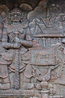 Bas Relief, Relief, Sculpture, Panels, Ethnicity