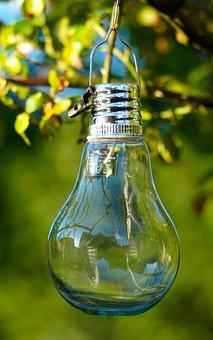 Light Bulb, Garden Light, Solar, Gartendeko