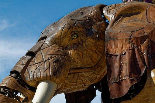 Elephant, Nantes, Giant, Automaton, Articulated
