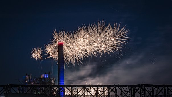 Fireworks, Industry, Factory, Industrial Architecture
